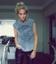 Rocker Tee and Leather Leggings
