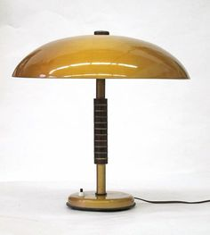 Large Sixties vintage table lamp gold by BomDesignFurniture