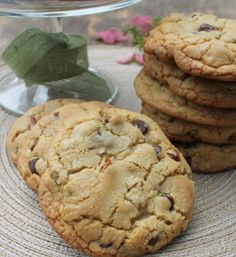 Bakery Style Chocolate Chip and Pecan Cookies Homemade Bakery Style Cookies that are big, thick, soft and chewy!