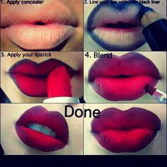 Ombre lipstick Photo by makeupartistpaige