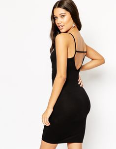 ASOS Strappy Back Wrap Front Mini Bodycon Dress