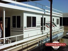Homeawayfromhome Check Out These Custom Houseboatgraphics - Custom houseboat vinyl decals