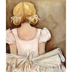 Blonde Ballerina Canvas Reproduction from PoshTots