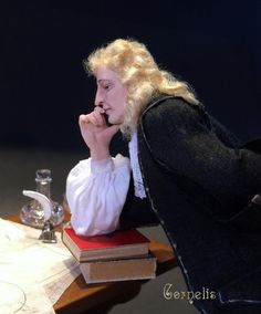 Cornelis, one of the Dutch Ship builders from 1670 by Annemarie Kwikkel. Miniature doll, 6 inch high.