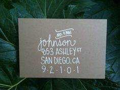 Custom Wedding Envelope Invitation Calligraphy