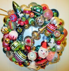Vintage Mid Century Multi-Color Ornament by FiveandDimeDesign