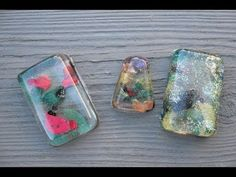 Nail Polish Resin Craft Tutorial: I bet if the first layer of resin sets up before applying the polish, it could be marbled and the resin would stay clear. Then let polish harden before adding top layer of resin. Resin Jewelry Tutorial, Resin Jewlery, Resin Tutorial, Resin Crafts, Resin Art, Jewelry Crafts, Jewelry Ideas, Nail Polish Jewelry, Nail Polish Crafts