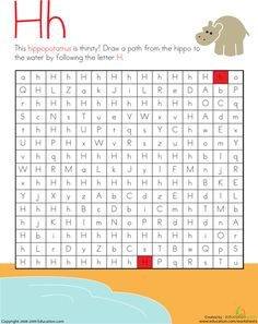 Letter Maze: H