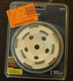 "Bosch 4.5"" Double Row Diamond Cup Wheel Part# DC4510H  #eBay #Lighthouse704 #GreatDeal"