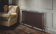Ancona with Cast Feet    The Ancona with cast feet is also supplied with wall ties and the overall design is one of classic elegance; this model is the perfect alternative to a cast iron radiator. Please specify cast feet when you place your order.