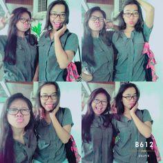 Twins with my bestie #selfie#uaj#narsis