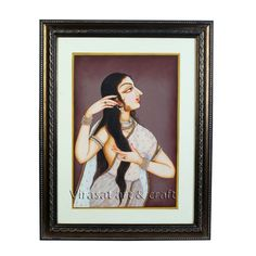 Miniature Painting on Paper of Traditional beautiful Indian lady, gift, home decor, Indian art, Indian handicraft by VirasatArtAndCraft on Etsy Cardboard Design, Fine Paper, Indian Paintings, Traditional Decor, Indian Art, Handicraft, Art Pieces, Arts And Crafts, Miniatures