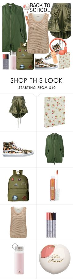 """""""Back to school"""" by hani-bgd ❤ liked on Polyvore featuring Moschino, Go Stationery, Vans, Vince, My Little Pony, Brunello Cucinelli, Kate Spade, Tony Moly, BackToSchool and vans"""