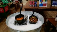 Lowes the sweet potato dip and black bean salad for community health improvement program event