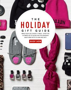 Holiday Must Haves Push - email newsletter