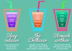 Sleep inducer, the Chillaxer and stomach soother smoothies