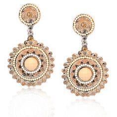 Wholesale Bohemia Earrings Ethnic Vintage  Circle Earrings Original M Pearl Earrings Allergy By Hand