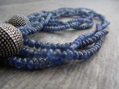 That Elegant Sapphire Necklace Zen Jewelry by Rootiebirds on Etsy