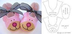 Mode de Sapatinhos em feltro para bebê - Ver e Fazer