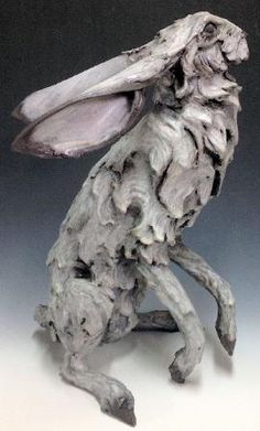 Hare Sculptures by Mary Philpott Ceramic Animals, Clay Animals, Ceramic Art, Rabbit Sculpture, Sculpture Clay, Rabbit Art, Bunny Art, Equine Art, Animal Sculptures