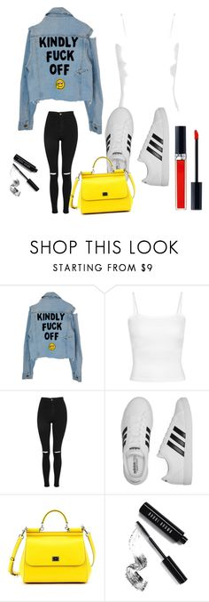 """""""cool outfit"""" by inessophiefromaustria ❤ liked on Polyvore featuring Topshop, adidas, Dolce&Gabbana, Bobbi Brown Cosmetics and Christian Dior"""