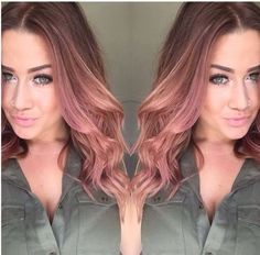 Image result for dusty rose hair