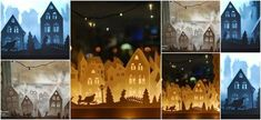 Haz indas villas navideñas para decorar tu casa en navidad Diy Christmas Village Displays, Christmas Decorations, Xmas Crafts, Outdoor Projects, Villas, Outdoor Gardens, Christmas Diy, Painting, Holiday Ornaments