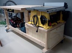 table saw workbench!