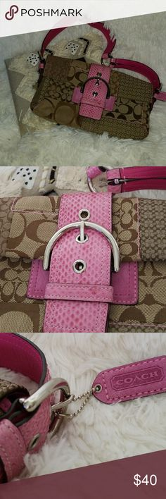 e9235812d2b 💖COACH MINI PURSE💖 🌸 Beautiful lightly used with lots of love left to  it, pink and tan and cream and silver take everywhere mini purse🌸 🌸COACH  Bags ...