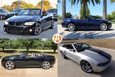 Get some drop-top fun without breaking the bank. Bmw 3 Series Convertible, Beetle Convertible, 2014 Ford Mustang, Ford Mustang For Sale, Porsche Boxster For Sale, Saturn Sky, Pontiac Solstice, Boxster S, Camaro For Sale
