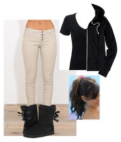 """""""PSAT tomorrow"""" by genova-was-here ❤ liked on Polyvore featuring UGG Australia and Aéropostale"""