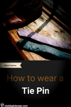 Tie Pins make for elegant men's accessories & every man should have at least one Elegant Man, Tie Pin, Every Man, Men's Accessories, At Least, Advice, Mens Fashion, This Or That Questions, How To Wear
