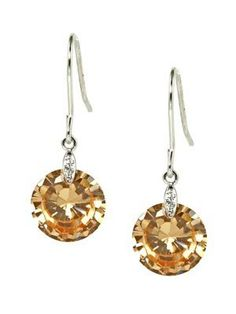 Classic Single Round 10mm Yellow CZ 18KGP Dangle Earrings le Jane. $21.00. Dangle with Fish Hook. 18K White Gold Plated. Elegant and Work Appropriate. Classic and Simple Style. Yellow Round Cubic Zirconia Stone