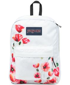 "Carry the springtime bloom wherever you go with this bright printed backpack from Jansport. | Polyester | Imported | Dimensions: 16.7"" x 13"" x 8.5"" 