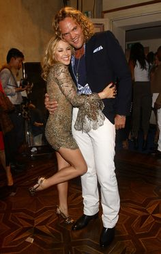 Kylie Minogue and Peter Dundas attend the Emilio Pucci Spring/Summer 2011 Womenswear fashion show during Milan Fashion Week on September 25, 2010 in Milan, Italy.