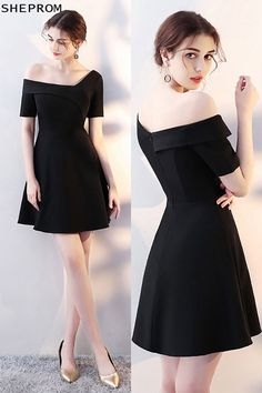 Best formal dresses Sale Chic Little Black Short Homecoming Dress with Sleeves at SheProm. Best Formal Dresses, Trendy Dresses, Modest Dresses, Nice Dresses, Casual Dresses, Short Dresses, Fashion Dresses, Dresses With Sleeves, White Dress With Sleeves