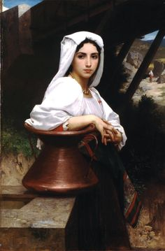 William Adolphe Bouguereau Italian Girl Drawing Water Oil Painting Reproductions for sale William Adolphe Bouguereau, Art Beauté, Beaux Arts Paris, Munier, Aradia, Pre Raphaelite, Italian Girls, Renoir, Beautiful Paintings