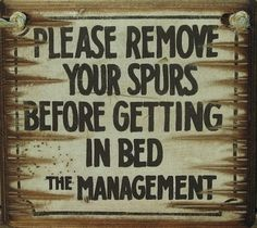 Cowboy Signs are an excellent addition to any room in your home, office or tack room! These signs are high quality wood and hand painted and antiqued. The signs are distressed to look old, like they have been around since … Continue reading → Small Room Interior, Interior Room Decoration, Rustic Signs, Wooden Signs, Cowboys Sign, Spurs Western, Cowboy Room, Wood Pallet Art, Hallway Designs