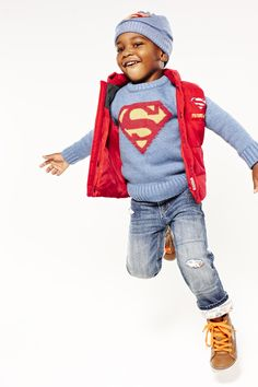 Great Holiday Gift idea for Your Superhero:  Junk Food™ superhero sweater #GapLove