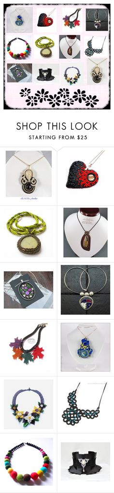 """""""necklace by Poletsy"""" by black-passion ❤ liked on Polyvore featuring Preciosa"""
