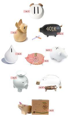 It's never too early to teach your littles the beauty of a budget. Enjoy these quirky, well-designed piggy banks from around the web!