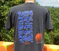 vintage 90s t-shirt NO FEAR basketball take a shot by skippyhaha