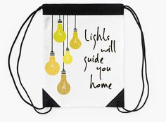"""Lights Will Guide You Home"" Drawstring Bags by bubbliciousart 