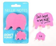 A set of pink elephant sticky notes and page markers that will keep you organized in the cutest way. 42 Gifts Every Elephant Lover Will Want To Get This Year