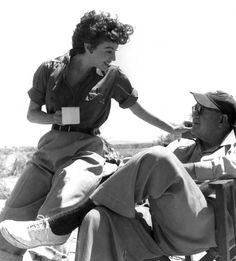 Ava Gardner and director John Ford got along famously while shooting Mogambo
