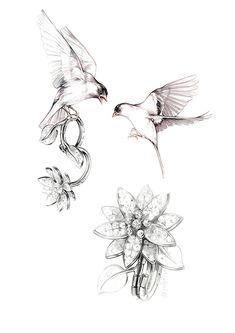 Spring Liaison - Bulgari and Van Cleef - Antonio Soares - Spring Liaison - Bulgari and Van Cleef Spring Liaison - Bulgari and Van Cleef on Behance Line Tattoos, Flower Tattoos, Jewelry Model, Jewelry Art, Jewellery Sketches, Jewelry Sketch, Gouache, 3d Mode, Jewelry Design Drawing