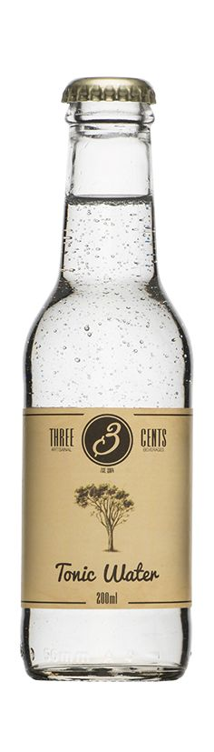 Three Cents Tonic Water - Beer, Wine and Spirits Tonic Water, Gin And Tonic, Gin Joint, Carbonated Drinks, Cocktail Drinks, Cocktails, Wine Brands, Beverage Packaging, Alcohol