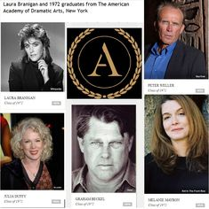 """1972 Noteable alumni """"The American Academy of Dramatic Arts""""."""