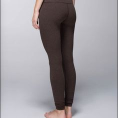Lululemon wunder under ctn roll down Choose your adventure rise - worn 1x - not altered - no piling - perfect condition - dog friendly home may have some hairs  - smoke free home - heathered beardoux color - SOLD OUT ONLINE - make me an offer. NO TRADES lululemon athletica Pants
