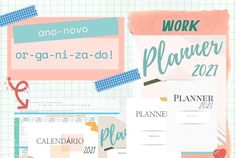 Planner para imprimir e planejador de redes sociais gratuito 2021 e permanente Planner, Free Printables, Bullet Journal, Timeline, Planners, Social Networks, Free Printable